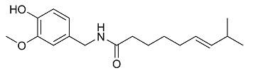 Chemische structuur Capsaicine