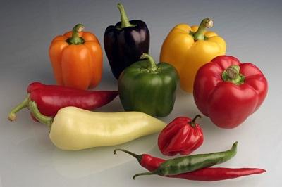 Chilipepers en paprika een gezonde familie